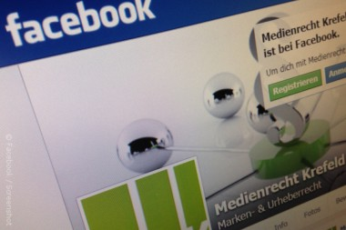 Facebook Screenshot Medienrecht